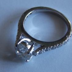 Inel de argint cu zirconii 706 - Inel argint