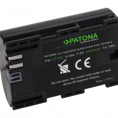 Acumulator pt Canon LP-E6, EOS-70D ; 2040mAh ; Premium compatibil marca Patona, - Baterie Aparat foto PATONA, Dedicat