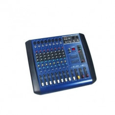 Mixer amplificat putere 380W, 4 iesiri, efecte digitale DSP, 8 canale - Mixere DJ