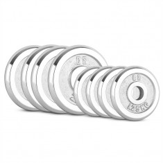 CAPITAL SPORTS CP 15 kg, set de discuri pentru gantere 4 x 1, 25 kg + 4 x 2, 5 kg, 30 mm