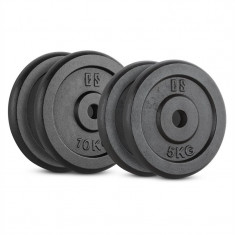 CAPITAL SPORT IPB 30 kg, greutati 2 x 5 kg + 2 × 10 kg, 30 mm, negru Capital Sports, Discuri greutati
