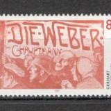 Germania.1987 125 ani nastere G.Hauptmann-poet PREMIUL NOBEL SG.585 - Timbre straine, Nestampilat