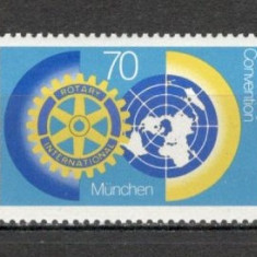 Germania.1987 Congres mondial Rotary Club Munchen SG.576 - Timbre straine, Nestampilat