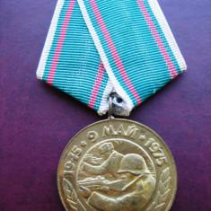 Medalia A 30-a Aniversare a Victoriei - Bulgaria 1975 - Decoratie