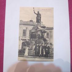 Cp tulcea anul 1914 statuie circulata timbrata - Carte Postala Dobrogea 1904-1918, Printata