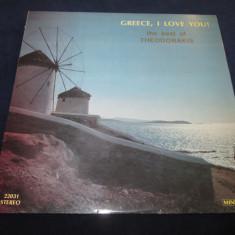 Mikis Theodorakis - Greece, I Love You (Best Of Theodorakis) _ vinyl(LP) Grecia - Muzica Populara Altele, VINIL