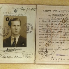 BDA S1 - CARTE DE MESTER - 1944 - PIESA DE COLECTIE - Diploma/Certificat