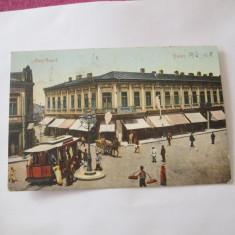 Cp galatz anul 1907piata regala circulata pt buzeu - Carte Postala Moldova 1904-1918, Tip: Printata, Oras: Galati