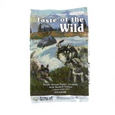 Pachet Taste Of The Wild Pacific Stream Puppy 13 kg + 1 L Ulei somon salbatic Nutrivet - Hrana caini