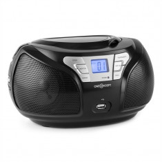ONEconcept Groovie BK Boombox Bluetooth FM CD MP3 AUX - CD player