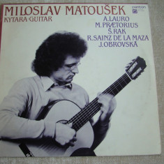 MILOSLAV MATOUSEK - Kytara / Guitar - Vinil LP Cehoslovacia - Muzica Ambientala