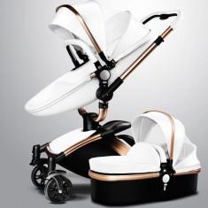 Brand original nou Copil Cărucior - Carucior copii 2 in 1 Baby Design, Alb