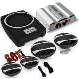 """Set sistem audio auto HIFI """"Ibiza"""" amplificator de 600W putere 4.1 cu difuzoare - Antifonare auto"""