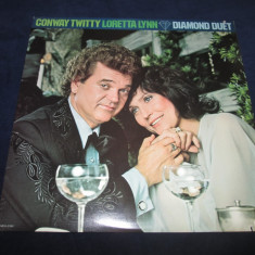 Conway Twitty & Loretta Lynn ‎– Diamond Duet _ vinyl(LP) SUA - Muzica Country Altele, VINIL