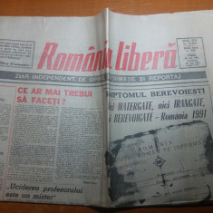 "ziarul romania libera 25-26 mai 1991-art. ""sindromul berevoiesti """