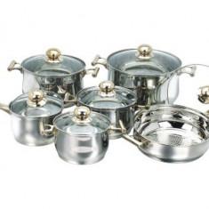 Set oale din inox 12 piese Kaiserhoff KH-415 - oala, cratita