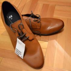 Pantofi Derby H&M maro-coniac - Pantofi barbati H&m, Marime: 42