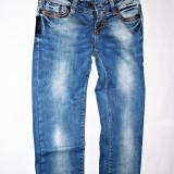 Blugi elastici fete EMPORIO ARMANI - Blugi dama Armani Jeans, Albastru, Marime: 27, Lungi