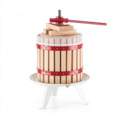ONEconcept Berrymore Press Vin Storcator Fructe 6l XLdin lemn de oțel cu clichet mecanic - Zdrobitor struguri