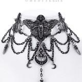 Choker Occult Moth - Pandantiv fashion