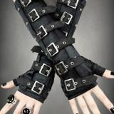 Mănuși gotice lungi cu catarame