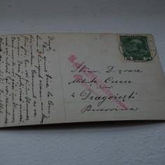 Bukowina circulatie Dragoiesti, cenzura - Carte Postala Bucovina 1904-1918, Circulata, Printata