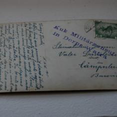 Bukowina circulatie Campulung, cenzura - Carte Postala Bucovina 1904-1918, Circulata, Printata