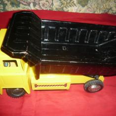 Jucarie- Basculanta cu baterii, metalica Bandai Japonia, L= 32 cm - Vehicul