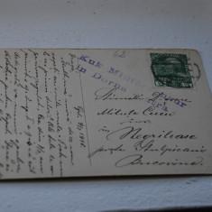 Bukowina circulatie Stulpicani, cenzura Dorna - Carte Postala Bucovina 1904-1918, Circulata, Printata