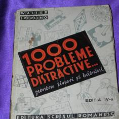 1000 probleme distractive pentru tineri si batrani ed 4 Walter Sperling (f0048 - Carte Matematica