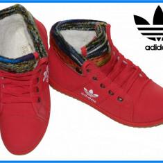 Bocanci / Ghete dama tip Adidas - Model nou - Rosu - Pret special - - Bocanci dama, Marime: 38, 39, 40