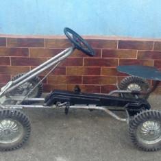 Vechi cart (Kettcar) cu pedale pentru copii !!! - Metal/Fonta