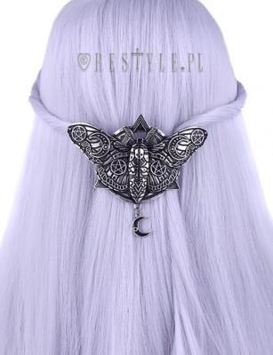 Clamă de păr gotică Occult Moth foto