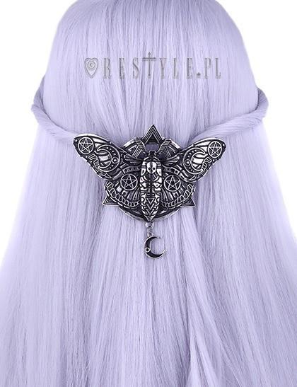 Clamă de păr gotică Occult Moth foto mare