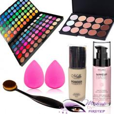 Trusa machiaj 120 culori MAC Fond de ten Baza Concealer Buretel ou pensula ovala - Trusa make up