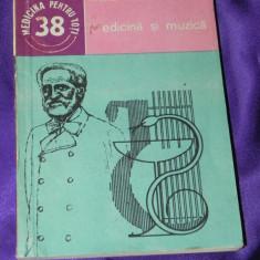 Medicina si muzica - Andrei Athanasiu (f0034 - Carte Arta muzicala