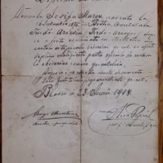 DIPLOMA DE CANTOR - EMISA LA BLAJ 1904 PTR O PERSOA DIN BISTRA COMITATUL TURDA - Diploma/Certificat