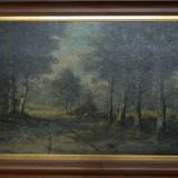 PICTURA ulei pe panza / DIMENSIUNE FOARTE MARE / tablou 136 x 76,5 cm!