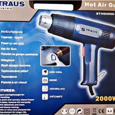 Pistol cu aer cald Straus Austria 2000W 6 accesorii