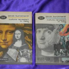 Cultura Renasterii in Italia - Jakob Burckhardt vol 1-2 (f0135