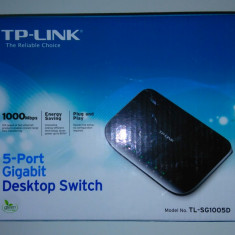 5 Port Gigabit Destktop Switch TP-Link TL-SG1005D - 1000Mbps Plug & Play