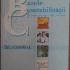 Bazele Contabilitatii Concepte, Aplicatii, Lexicon - Emil Horomnea, 386949 - Carte Marketing