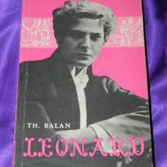 Th. Balan - Leonard printul operetei (f0030 - Carte Arta muzicala