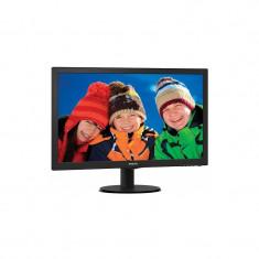 Monitor LED Philips 243V5LSB/00, 23.6 inch, 1920x1080, 5 ms, VGA, DVI-D, Negru