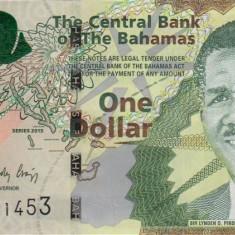 BAHAMAS █ bancnota █ 1 Dollar █ 2015 █ P-71 █ UNC █ necirculata - bancnota america