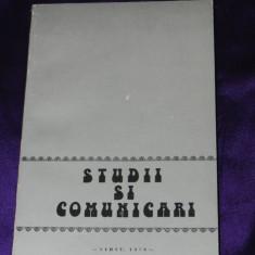 Studii si comunicari de etnologie VOL 1 1978 sibiu ilie moise(f0019