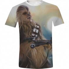 Star Wars - Chewie Full Printed Men T-Shirt - White, Size: S, L, XL
