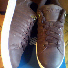 1+1/2 sau 2+1 Gratis - Adidasi K-Swiss Lozan 42EU -piele naturala - Adidasi barbati K-Swiss, Culoare: Maro