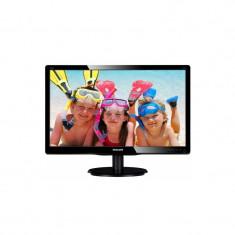 Monitor LED Philips 223V5LSB/00, 21.5 inch, 1920x1080, 5ms, VGA, DVI-D, Negru