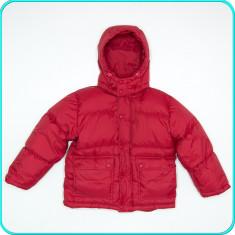 DE FIRMA _ Geaca de iarna, puf gâscă, impecabila H&M _ baieti | 8 - 9 ani | 134, Marime: Alta, Culoare: Visiniu